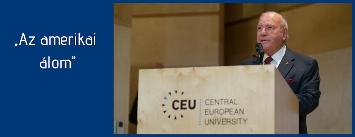 Cornstein nagykövet előadása a CEU-n