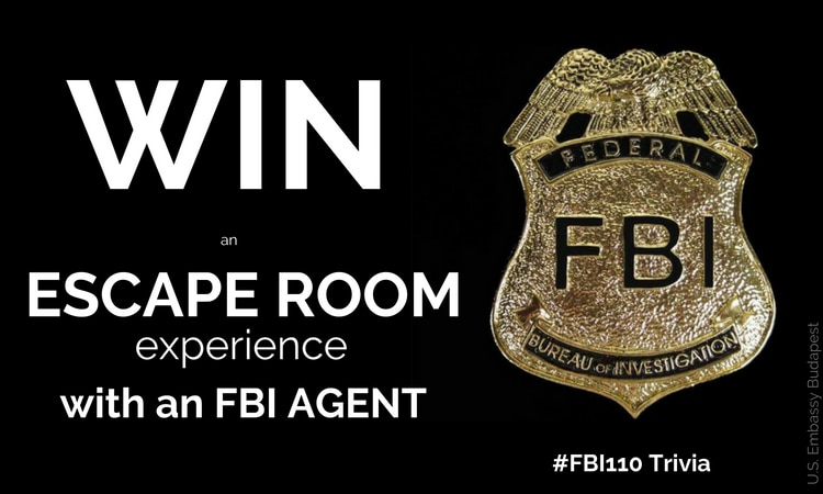 text: win an escape room experience with an FBI agent
