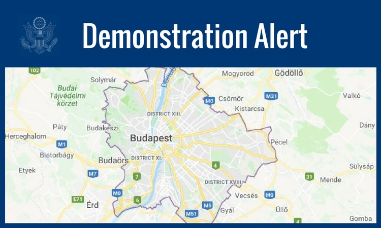 text:demonstration alert, below image of a map