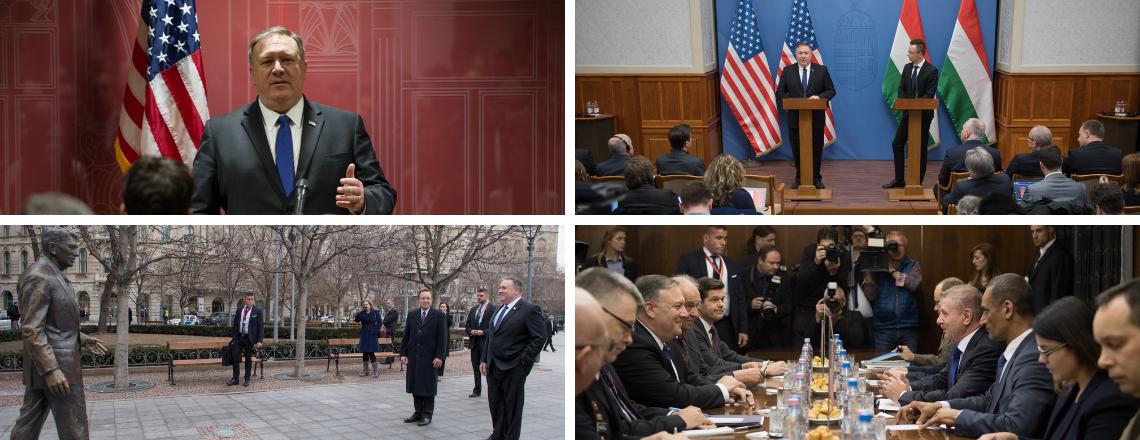 Pompeo külügyminiszter látogatása Budapesten
