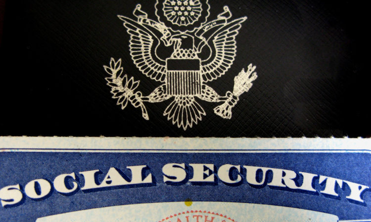 text: social security, seal with eagle